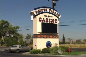 The disputed land lies south of the Paiute Palace Casino.