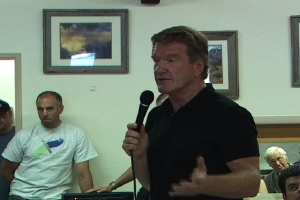 Mammoth Mountain CEO Rusty Gregory told the crowd that firm financial requirements led to the closure of June Mountain.