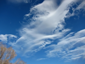 Windy days create lovely skyscapes.  Photo by Andrew Kirk