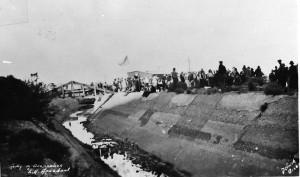 """""""Army of Occupation"""" LA Aqueduct."""