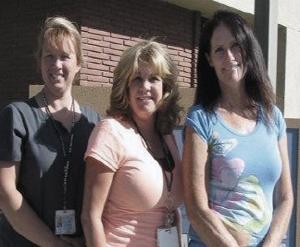 Robin, Lisa and Dee.