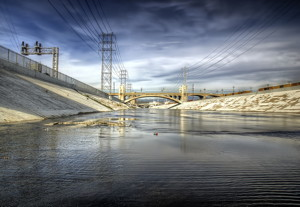 The industrial-strength Los Angeles River. Photo by Neil Kremer.