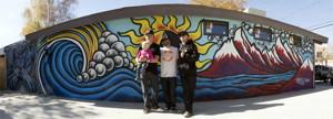 Wave Rave Owner Steve Klassen and his daughter Kinsley, Bryan Iguchi, and Jamie Lynn