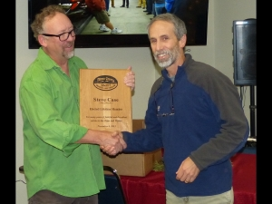 Team President Dan Corning gave out awards - this one to Steve Case - Lifetime Member Award.