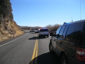 Accident scene.  CHP photo