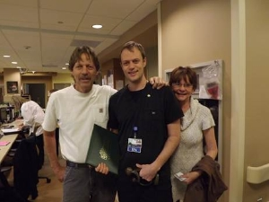 Joey Zappia, with long time Northern Inyo Employees (and parents) Joe and Betty Jo Zappis
