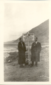 Charlie Scholl and wife at Badwater
