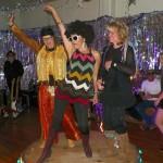 Best Disco Outfit Contestants- Sue Hutson, Jude Greenburgh, and Diana Pietrasanta