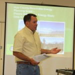 Photos go with OVSES story 11: Supervisor Matt Kingsley opened the discussion at last Wednesday's Owens Valley Solar Energy Study held in Lone Pine.