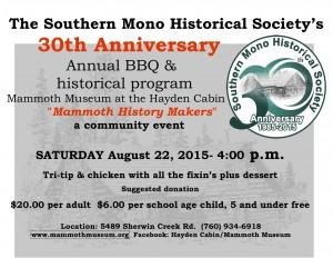 Southern Mono Hist Society flyer 8-22-15