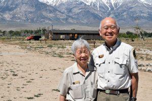 Volunteers Saburo and Ann Sasaki at Manzanar, May 2016 Photos courtesy NPS