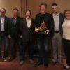 From leftt: Eric Clark, COO Resort Services, Mammoth Mountain; Mark Brownlie, CEO & President, Mammoth Mountain; Ron Cohen, Deputy General Counsel/Senior Vice President; Rusty Gregory; Michael Reitzell, Board President, CSIA; Sally Helm, CEO & Co-Owner, Dodge Ridge.