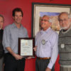 Pictured: Dr. Leo Pisculli, Dr. Bennett Pafford, Randy Van Tassell and Ed Nahin/Tex and photo submitted by Pat Nahin