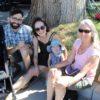 Forest Pound and Mira Inbar with daughter, Acacia, and grandmother, Tamara Cohn